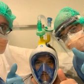 Máscaras de buceo de Decathlon en pacientes.
