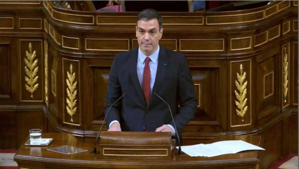 Pedro Sánchez comparece en el Congreso de los Diputados