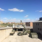 construcción del Hospital de Campaña en Segovia