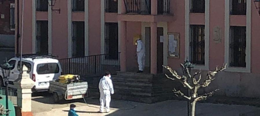La Diputación  continua desinfectando municipios y residencias de personas mayores de la provincia
