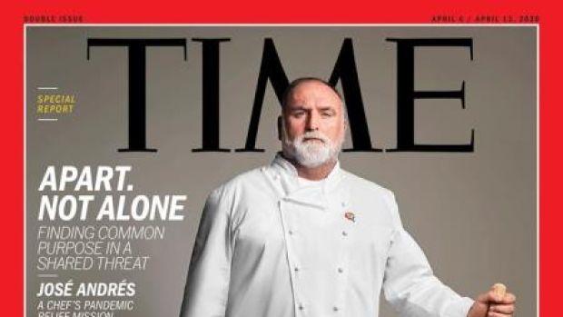 El chef José Andrés, portada de TIME por su ayuda en la crisis del coronavirus