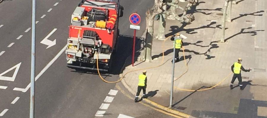 """La UME desinfecta la Comisaria de la Policía Nacional, """"La Moraleja"""" y Residencia """"Puente de Hierro"""""""