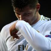 Luka Jovic, con el Real Madrid