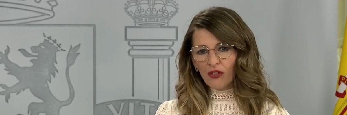 Yolanda Díaz tras el Consejo de Ministros extraordinario
