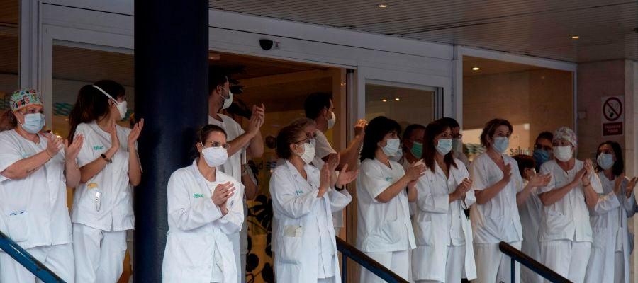 Los sanitarios del Hospital San Jorge, en Huesca