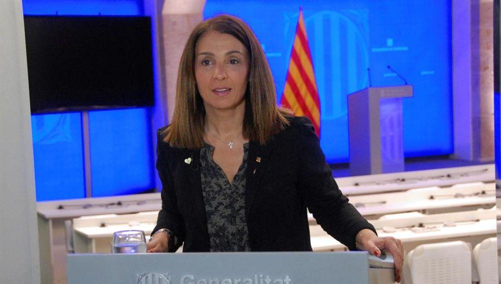La consellera de la Presidencia de la Generalitat catalana, Meritxell Budó