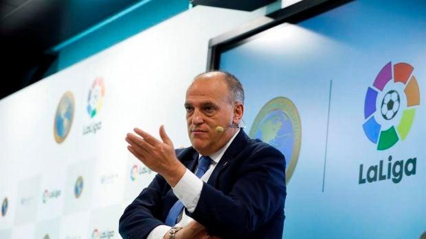 """Tebas confirma que no habrá público en los estadios esta temporada: """"No está entre las prioridades de LaLiga"""""""