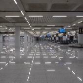 La terminal de llegadas del Aeropuerto de Palma, completamente vacía consecuencia del Estado de alarma.