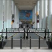 El acceso al Aeropuerto de Son Sant Joan, en Palma, completamente vacío consecuencia del Estado de alarma.