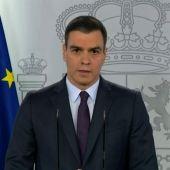 Pedro Sánchez comparece en rueda de prensa