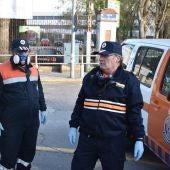 José Luis Espadero realizando tareas de desinfección durante el estado de alarma