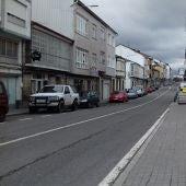 Estrada OU 536 a seo paso por Castro Caldelas