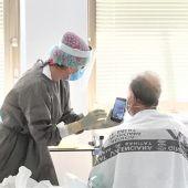 Paciente con coronavirus en el Hospital General Universitario de Elche.