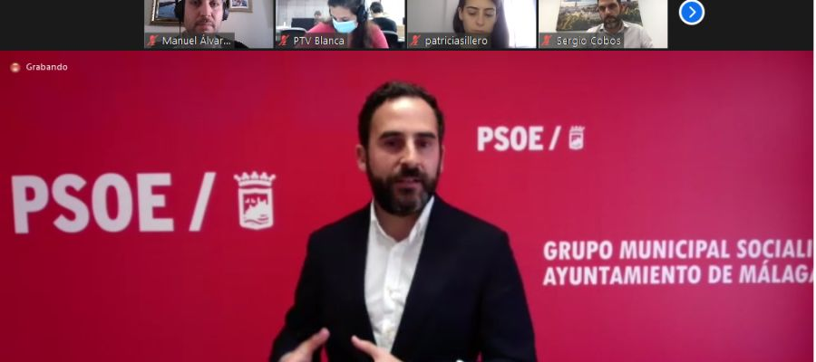 Daniel Pérez en la comparecencia telemática ante los medios de comunicación.