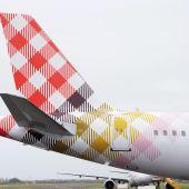 Imagen de una de las aeronaves de la compañía Volotea