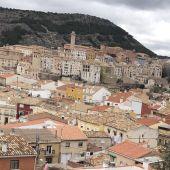 Casco antiguo de Cuenca, desde el barrio de Tiradores