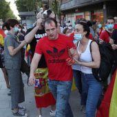 Enfrentamientos durante las caceroladas en Moratalaz