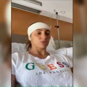 Virginia Torrecilla, operada de un tumor en la cabeza