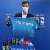 El entrenador de Las Rozas, Iván Helguera.