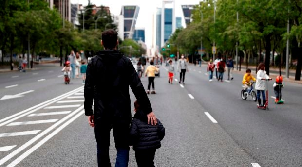 Nuevos horarios de salida de los niños en Madrid durante la fase 1