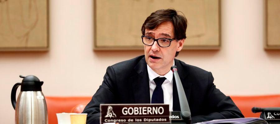Salvador Illa, ministro de Sanidad, comparece en la comisión de sanidad del Congreso de los Diputados