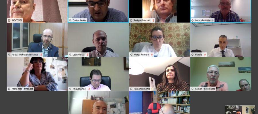 Reunión telemática entre FECIR y asociaciones comerciales de la provincia