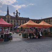Primer día de mercado postconfinamiento en la Plaza Mayor
