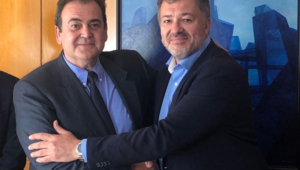 Isidoro Gómez-Cavero y Darío Dolz hace un año