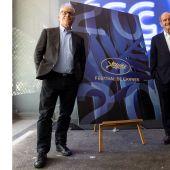 Thierry Fremaux y Pierre Lescure, minutos antes de desvelar la lista de películas seleccionadas para Cannes 2020