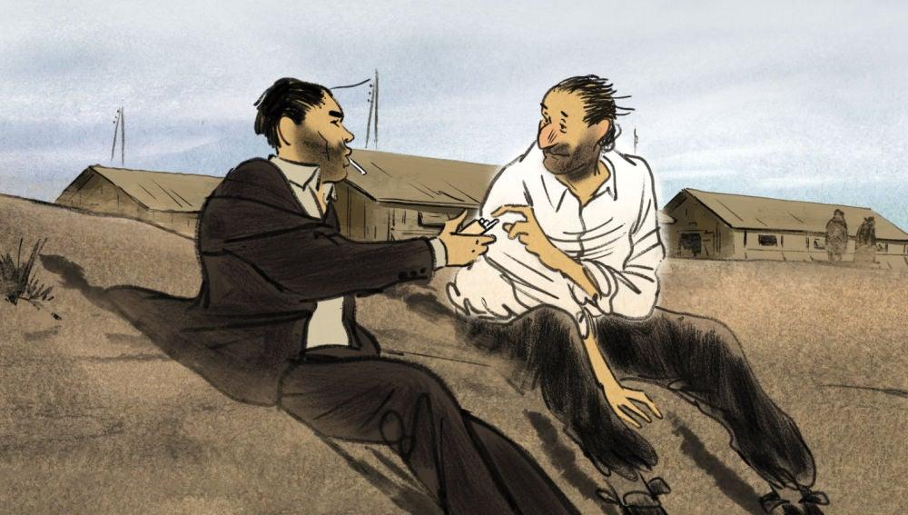 Fotograma de la película de animación francoespañola 'Josep', seleccionada en el Festival de Cannes 2020