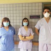 De izquierda a derecha Rosa Martínez, Anna Baeza y Antonio Garrido