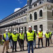 El consejero Soro ha visitado las obras de la estación de Canfranc