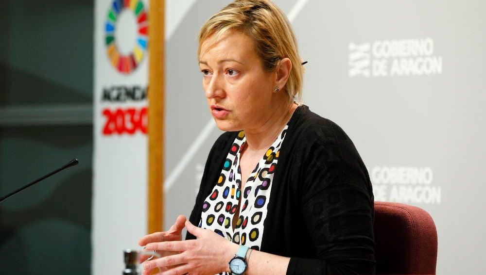 Marta Gastón, consejera de Economía, en rueda de prensa