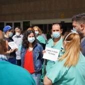 Noa Presas, apoia a concentración no Hospital de Verín