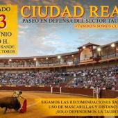La actividad será el sábado a las 12:00 frente a la Plaza de Toros de Ciudad Real