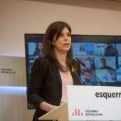 Marta Vilalta, en roda de premsa a la seu d'ERC
