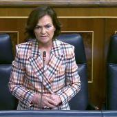 """Carmen Calvo, a Álvarez de Toledo: """"Le invité a un café y usted me ofreció un circo"""""""