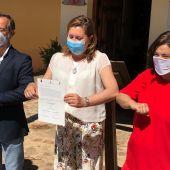 Firma del convenio entre Lara, Rodríguez y Zamora