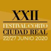 Logotipo y cartel anunciador del Festival Corto de Ciudad Real