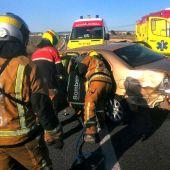 Accidente de tráfico en la N-332, en Santa Pola.