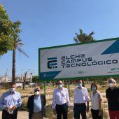 Obras del Campus Tecnológico del parque empresarial de Elche.