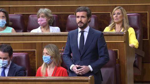 """Casado, a Sánchez: """"No le vendría mal escuchar a un partido que ha gestionado con éxito dos epidemias y dos recesiones"""""""