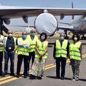 Pilar Zamora ha visitado el aeropuerto de Ciudad Real