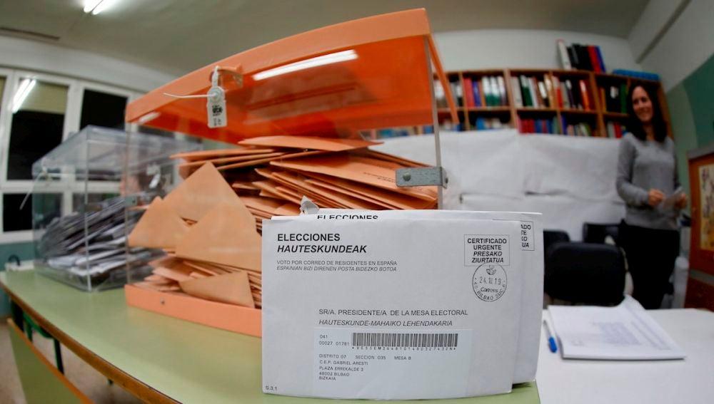 Mesas de votación en las elecciones