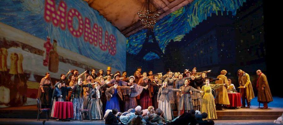 Imagen de la representación en el Maestranza de la ópera 'La Bohéme', de Giacomo Puccini
