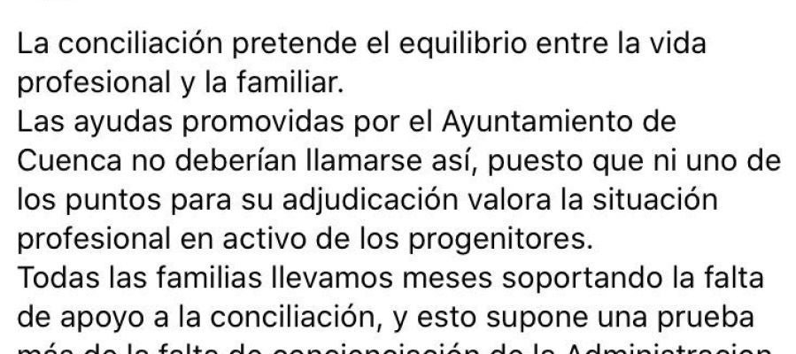 Fampa Cuenca pide más concienciación sobre la conciliación
