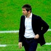 Albert Celades, en un partido del Valencia CF