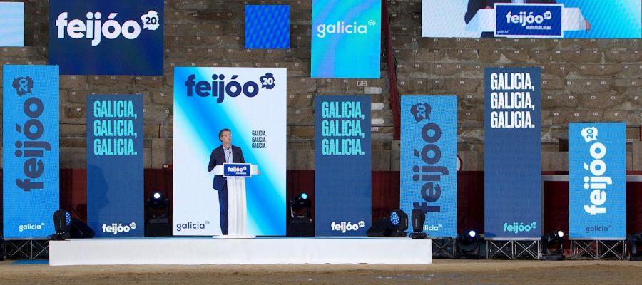 El candidato a la Xunta de Galicia, Alberto Núñez Feijóo