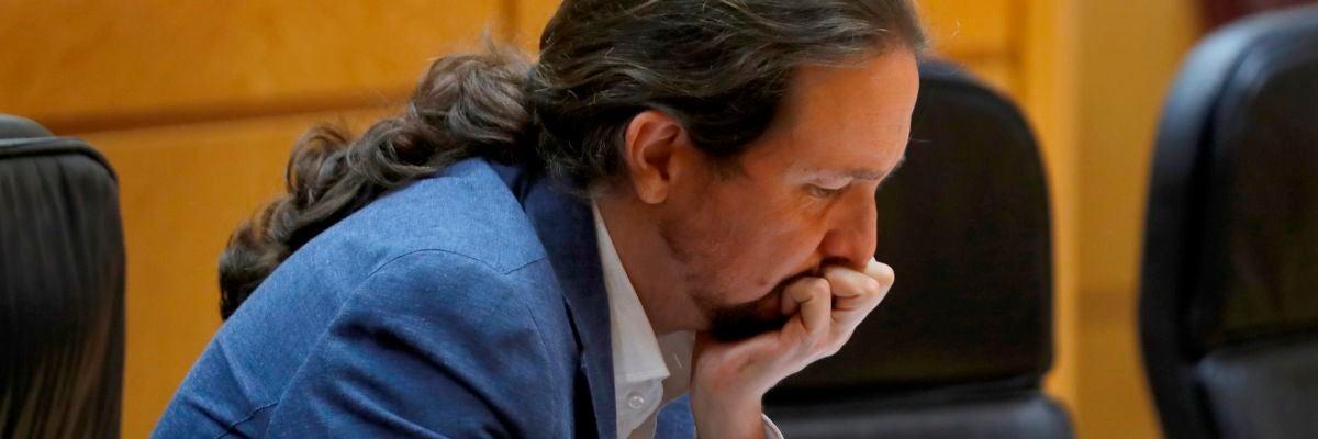 El vicepresidente segundo del Gobierno, Pablo Iglesias, en el Senado