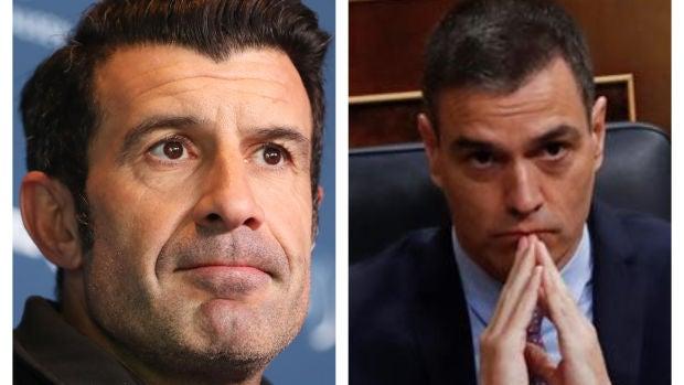 Luis Figo y Pedro Sánchez